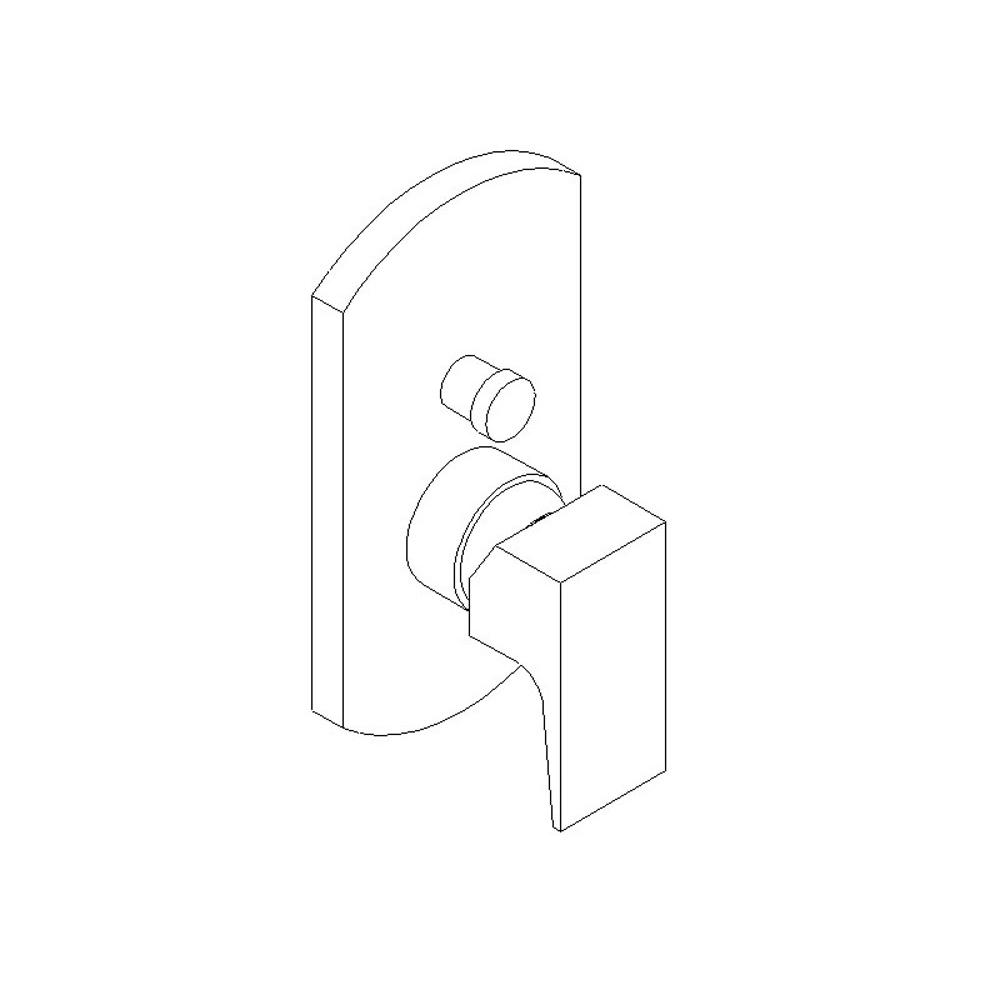 Artos Pressure Balance Trims With Integrated Diverter Shower Faucet Trims item F903-8TKBN