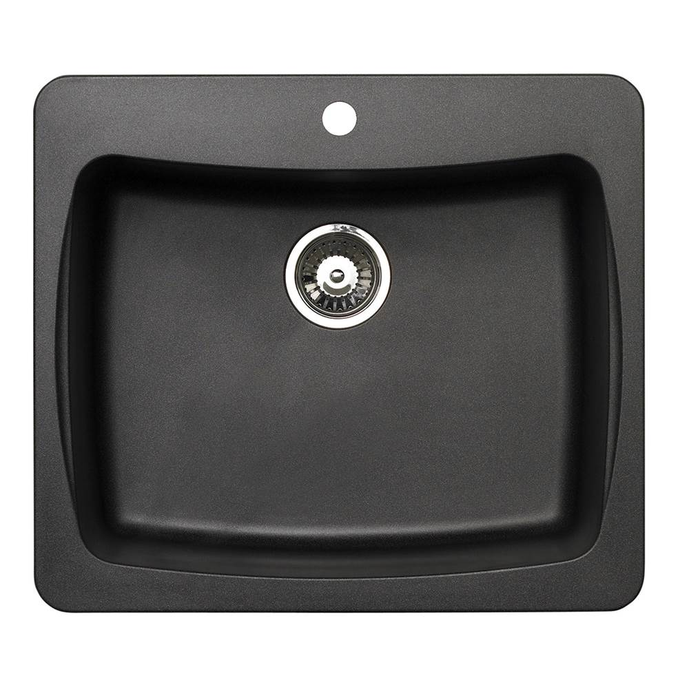 Artisan Manufacturing Drop In Kitchen Sinks item ACDM2501-D8-BL