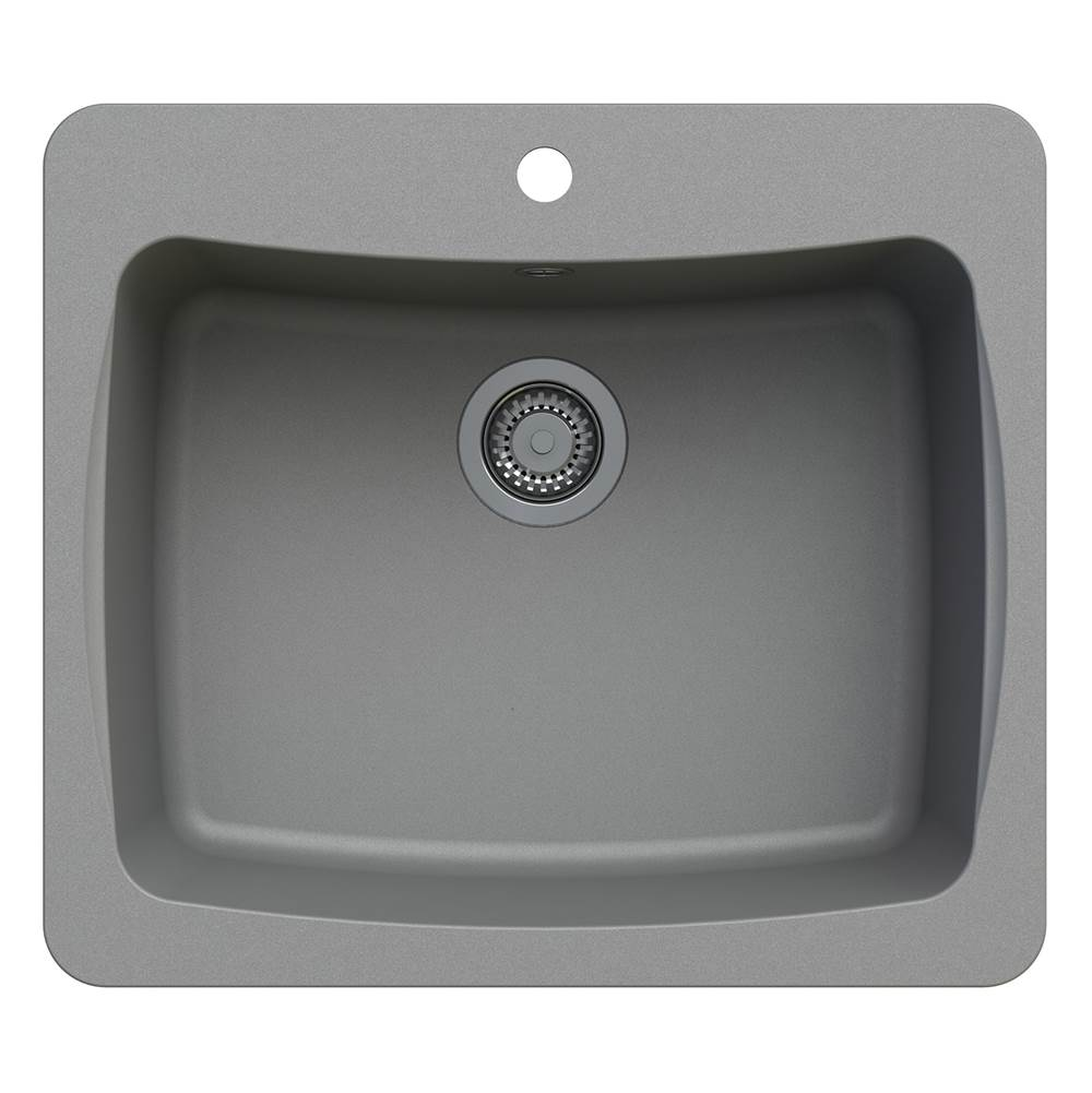 Artisan Manufacturing Drop In Kitchen Sinks item ACDM2501-D8-GR