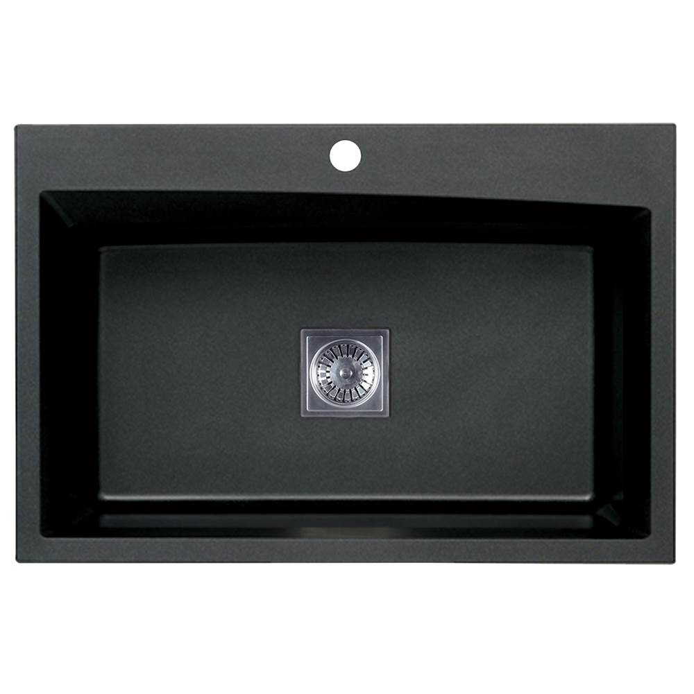 Artisan Manufacturing Drop In Kitchen Sinks item ACDM3301-D9-BL