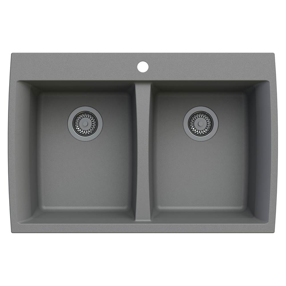 Artisan Manufacturing Drop In Kitchen Sinks item ACDM3302-D88-GR