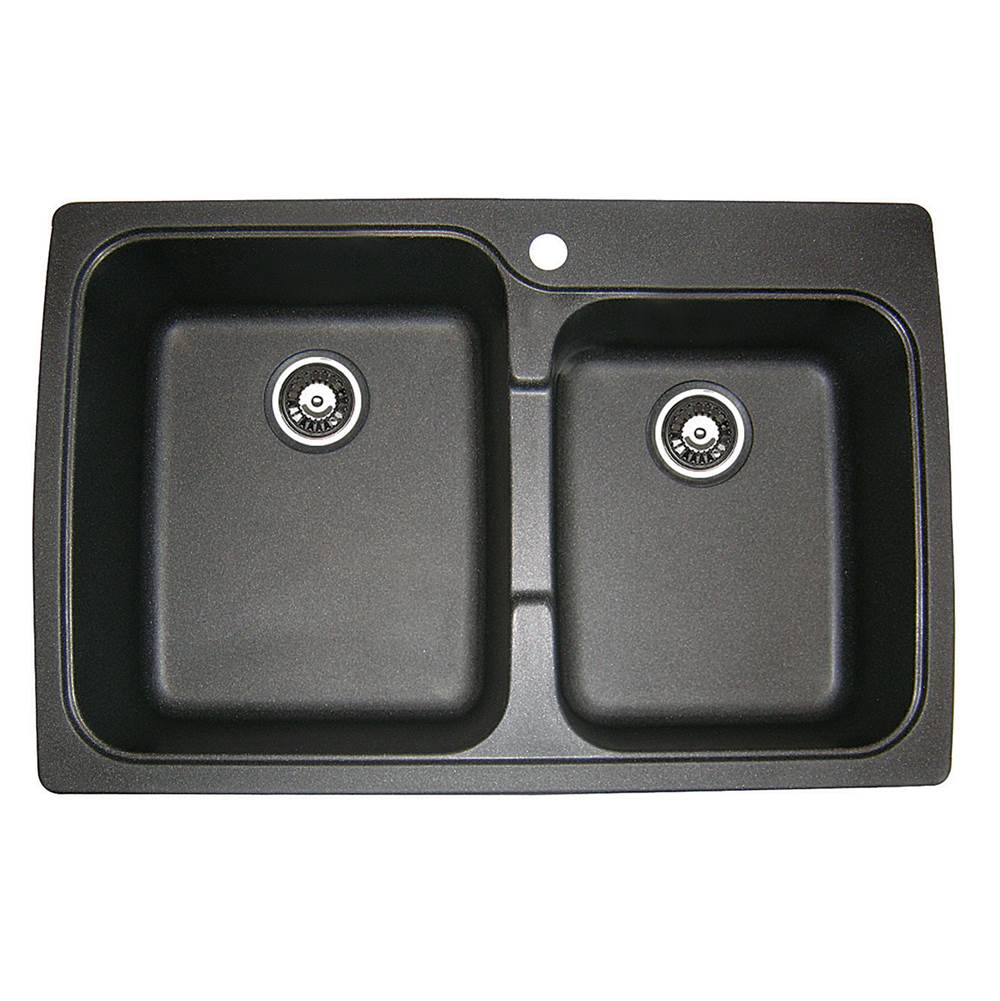 Artisan Manufacturing Drop In Kitchen Sinks item ACDM3402-D87-BL