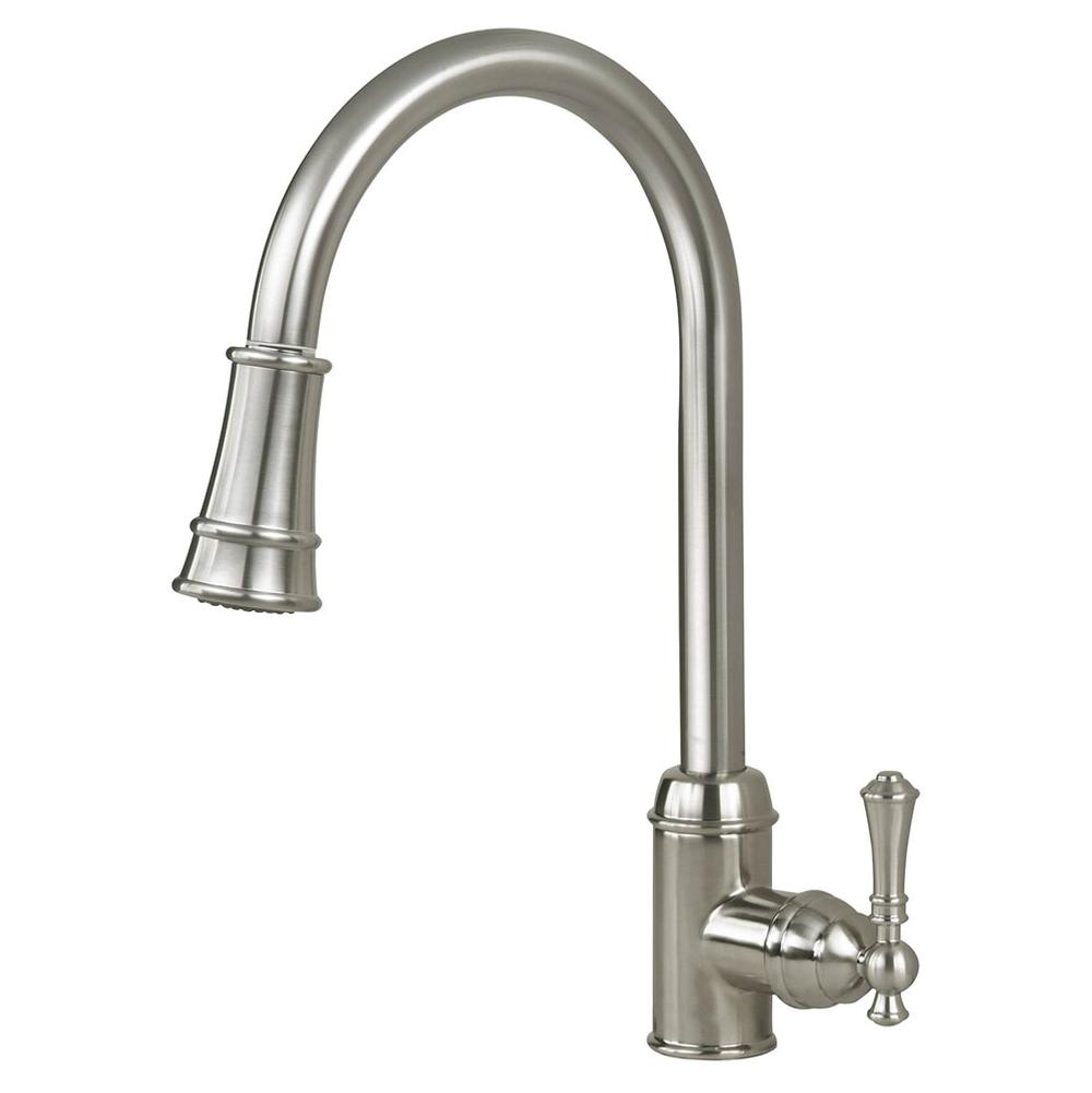 Artisan Manufacturing Single Hole Kitchen Faucets item AF-410-SN
