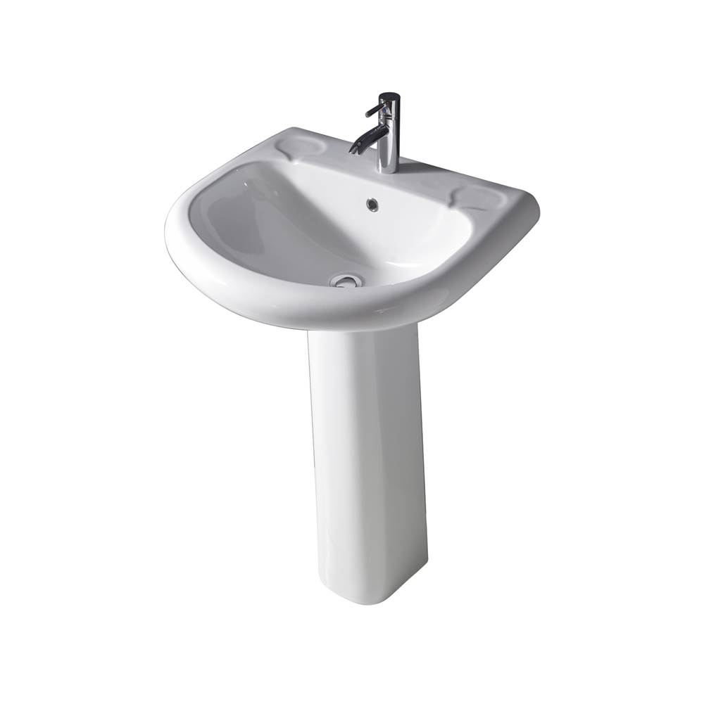 Barclay Complete Pedestal Bathroom Sinks item 3-188WH