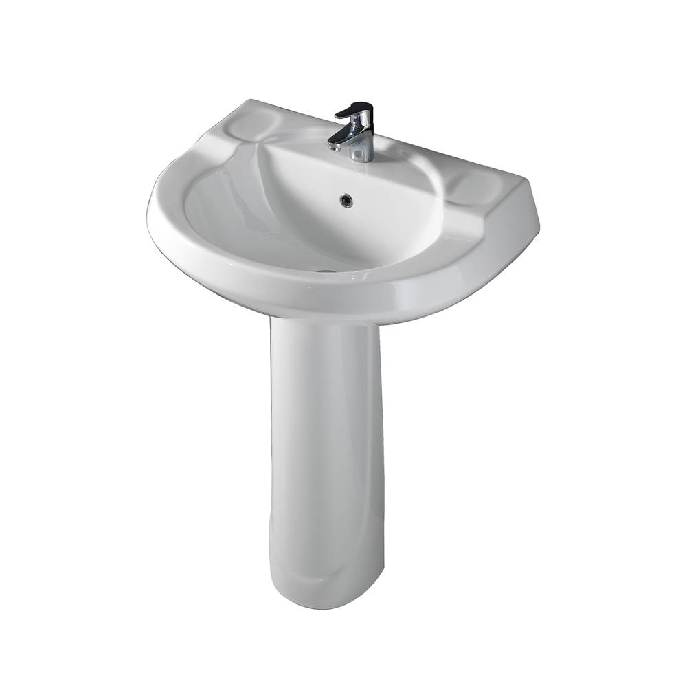 Barclay Complete Pedestal Bathroom Sinks item 3-191WH