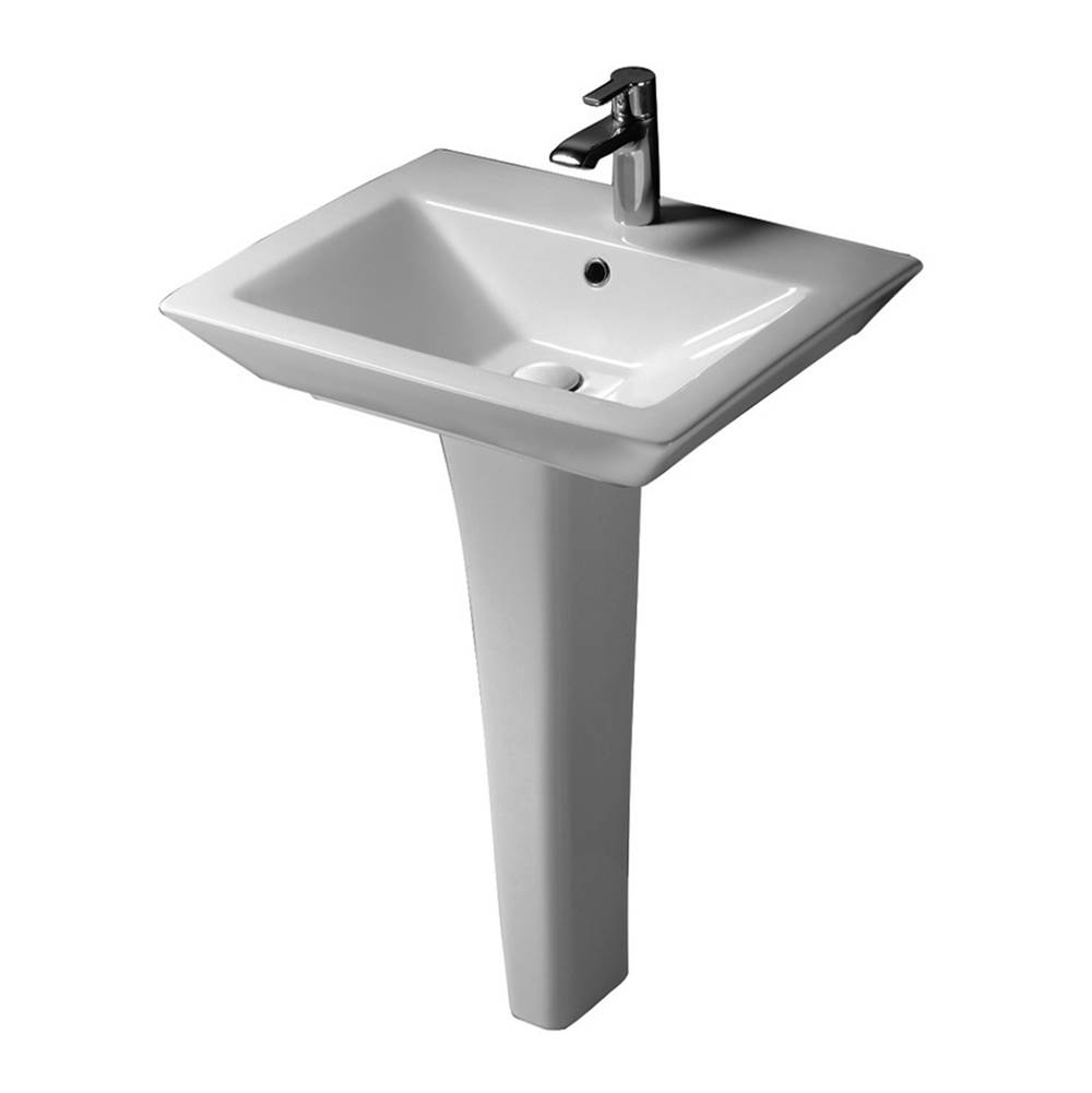 Barclay Complete Pedestal Bathroom Sinks item 3-368WH
