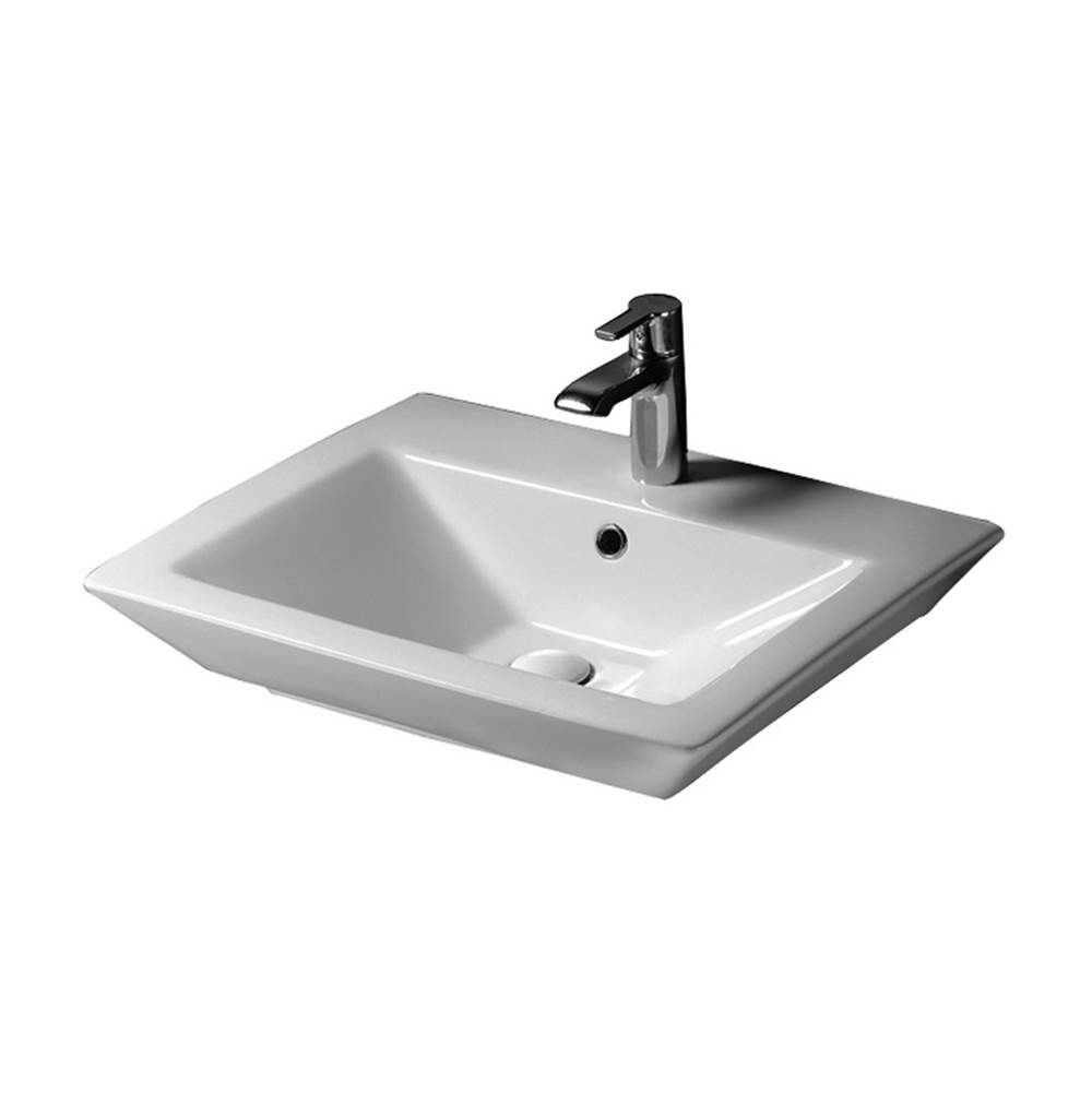 Barclay Wall Mount Bathroom Sinks item 4-372WH