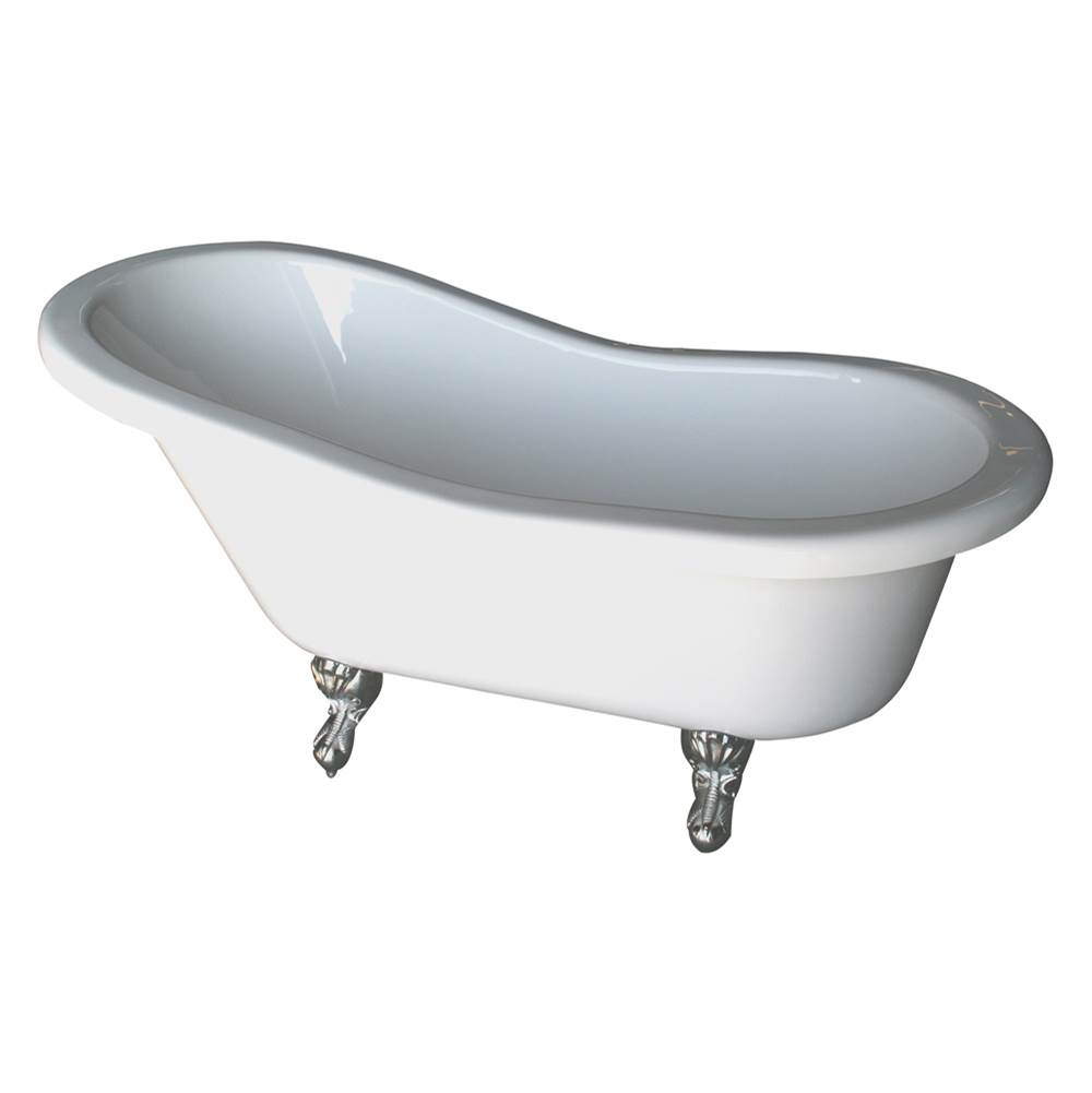 Barclay Clawfoot Soaking Tubs item ADTS60-WH-PN
