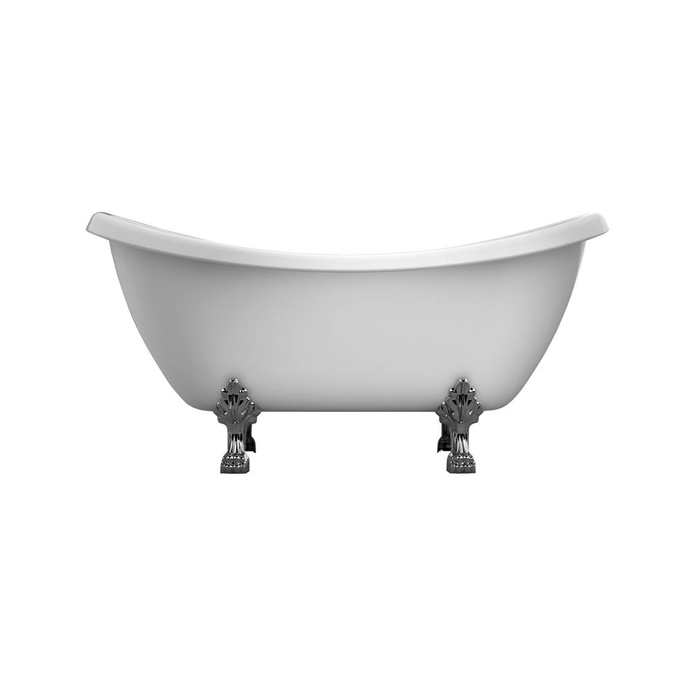 Barclay Clawfoot Soaking Tubs item ATDSN69-WH-PB