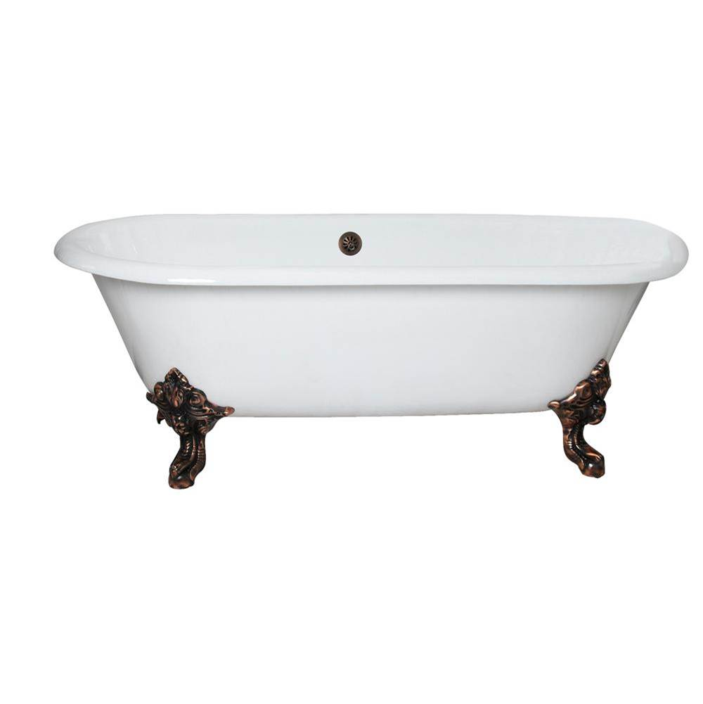 Barclay Free Standing Soaking Tubs item CTDRN72-WH-PN