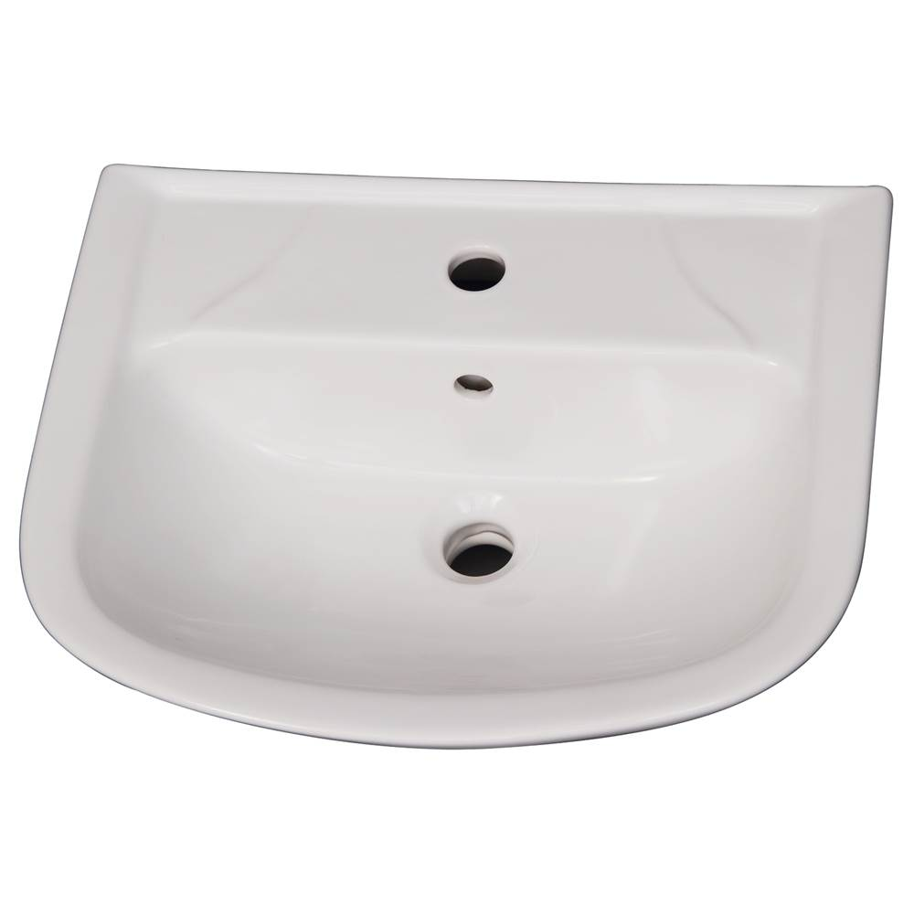 Barclay Vessel Only Pedestal Bathroom Sinks item B/3-121WH