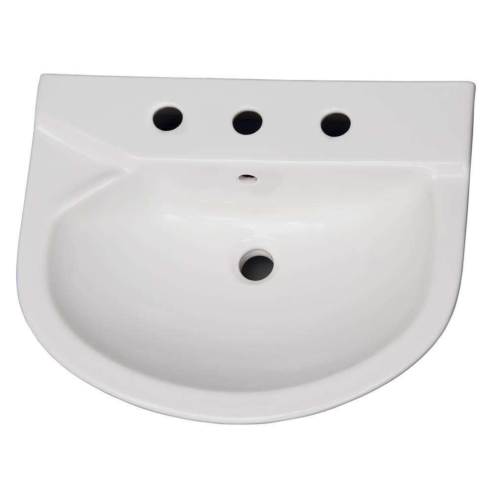 Barclay Vessel Only Pedestal Bathroom Sinks item B/3-428WH
