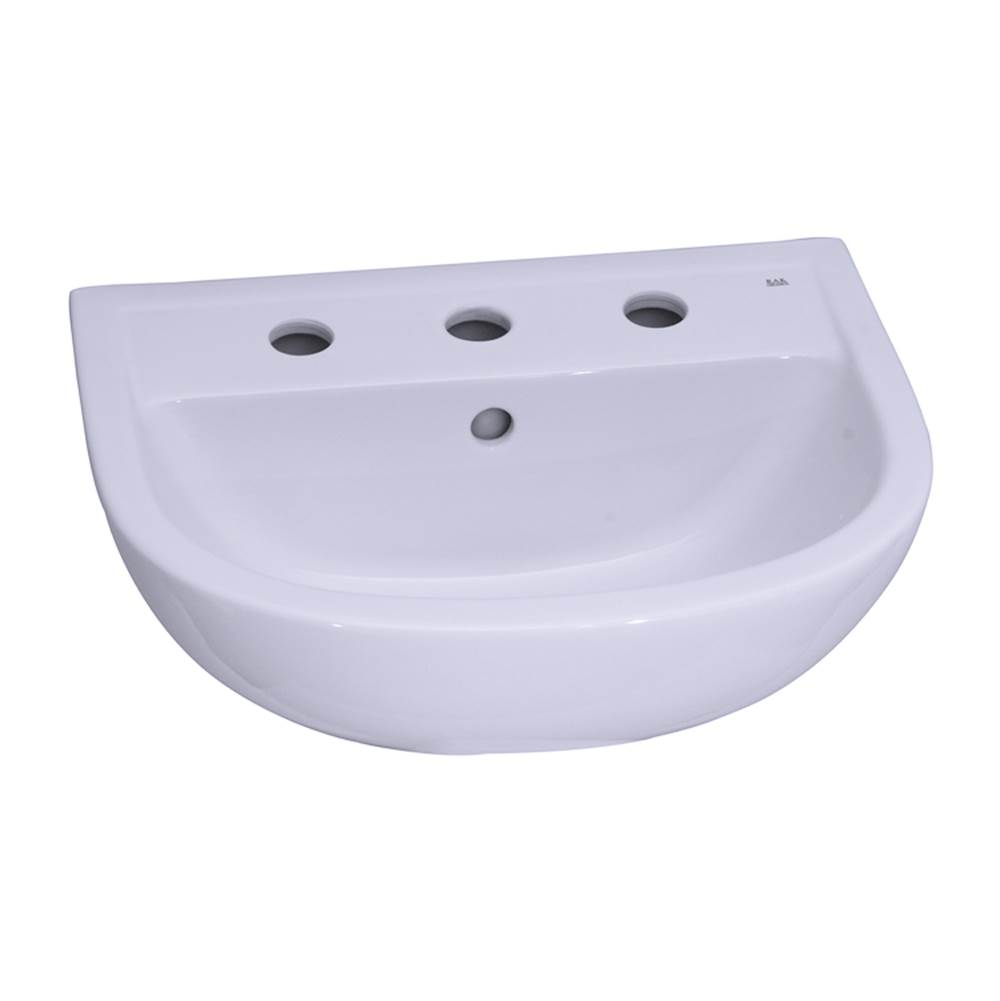 Barclay Vessel Only Pedestal Bathroom Sinks item B/3-558WH