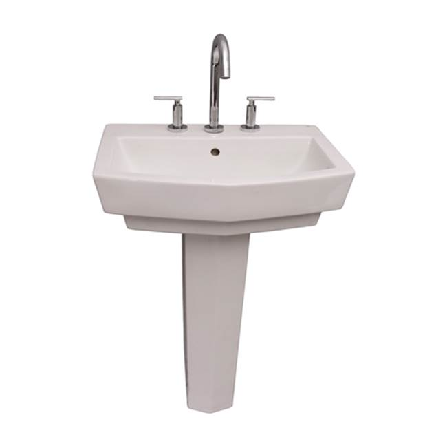 Barclay Vessel Only Pedestal Bathroom Sinks item B/3-784WH