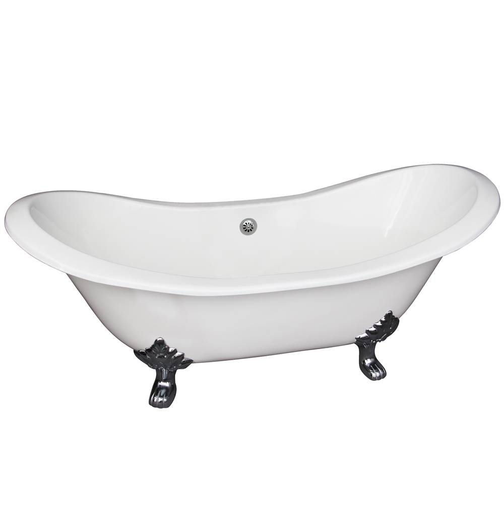 Barclay Clawfoot Soaking Tubs item CTDS7H61-WH-PB