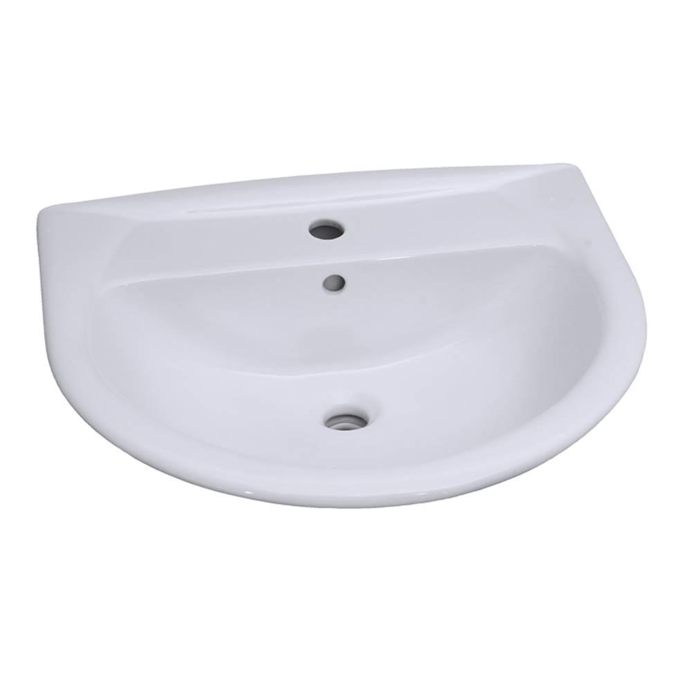 Barclay Vessel Only Pedestal Bathroom Sinks item B/3-298WH