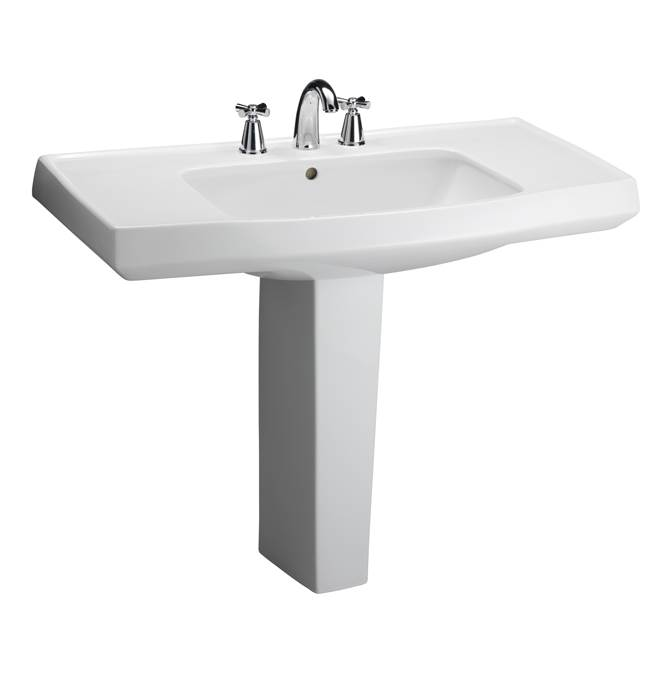 Barclay Pedestal Only Pedestal Bathroom Sinks item C/3-950WH