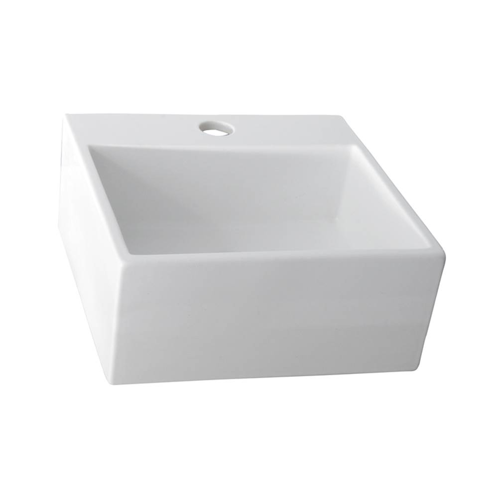 Barclay Wall Mount Bathroom Sinks item 4-381WH