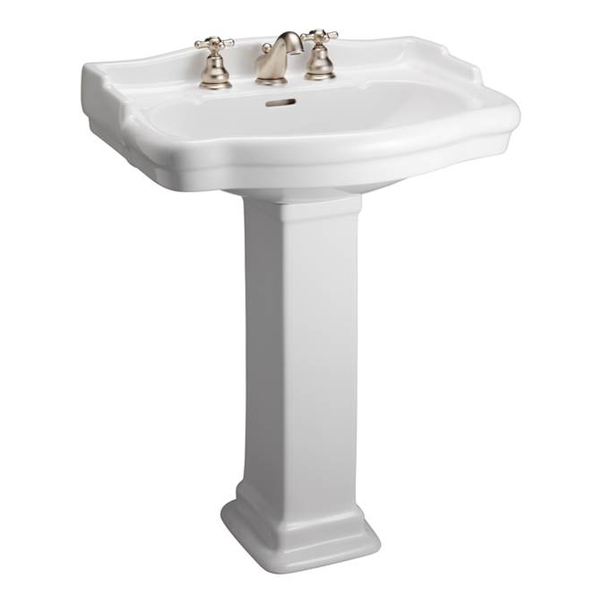 Barclay Complete Pedestal Bathroom Sinks Item 3 858WH