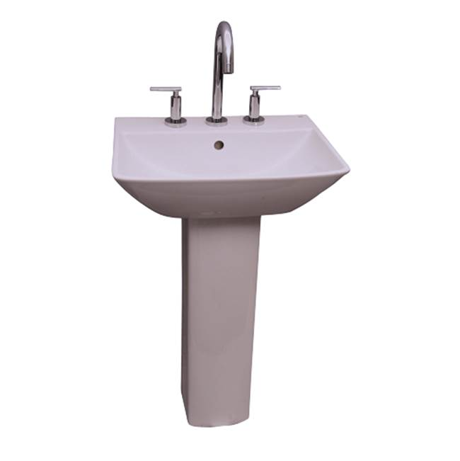 Barclay Vessel Only Pedestal Bathroom Sinks item B/3-764WH