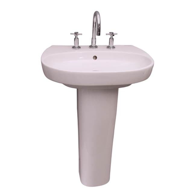 Barclay Complete Pedestal Bathroom Sinks item 3-928WH