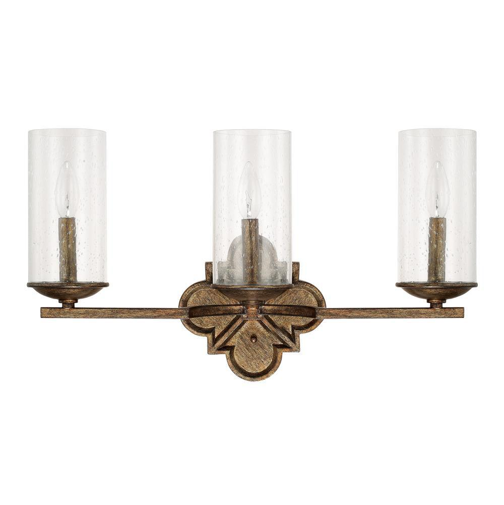 Capital Lighting Three Light Vanity Bathroom Lights item 117631RT-376