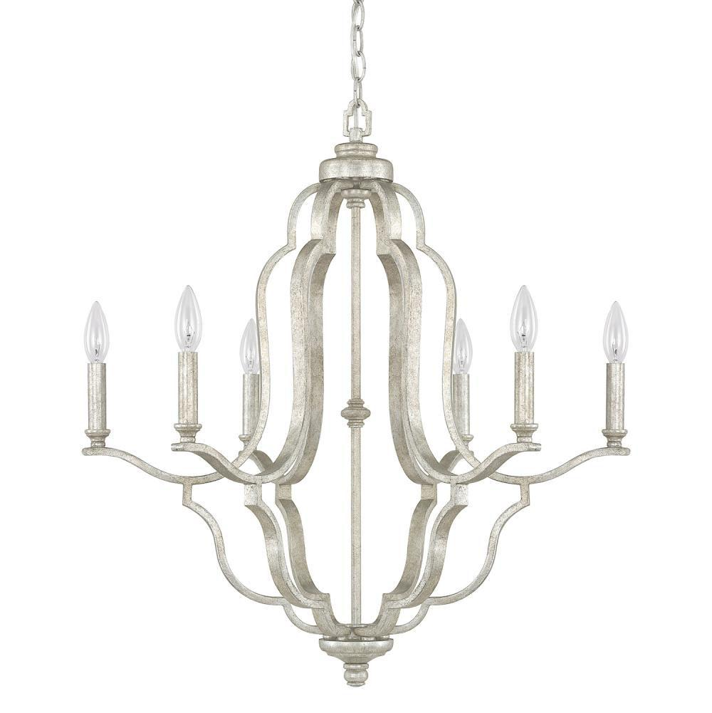 Capital lighting kitchens and baths by briggs grand island 55200 4946as 000 brand capital lighting 6 light chandelier aloadofball Gallery