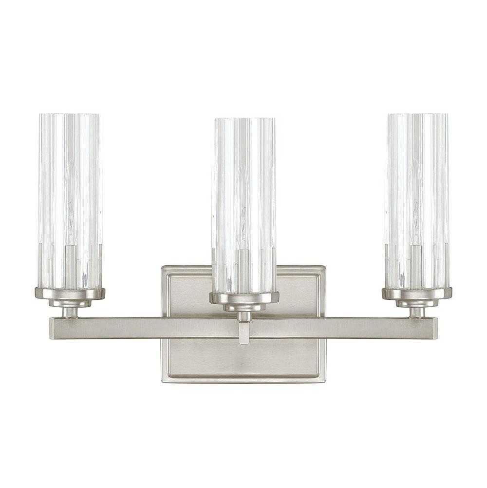 Matte Nickel 1163MN-118 Capital Lighting 3 Light Vanity Fixture