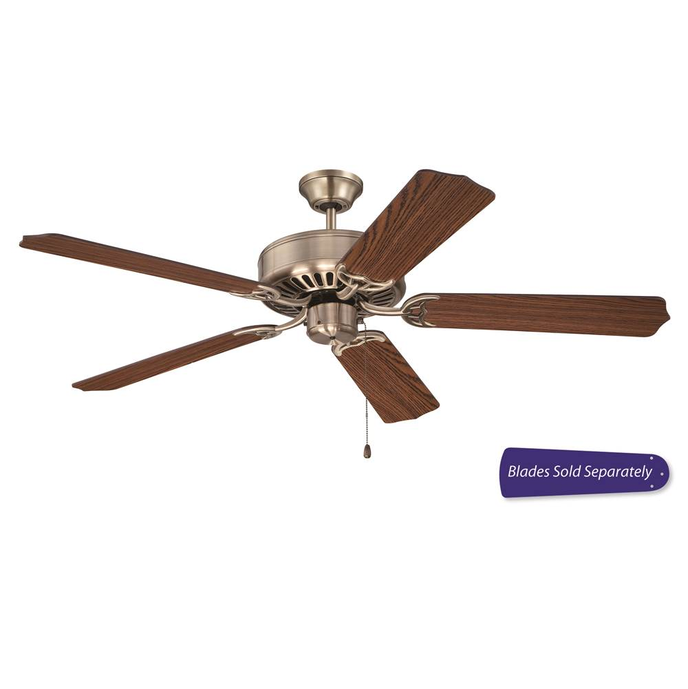 Craftmade c52ab at kitchens and baths by briggs bath showroom craftmade c52ab 52 pro builder ceiling fan in antique brass mozeypictures Choice Image