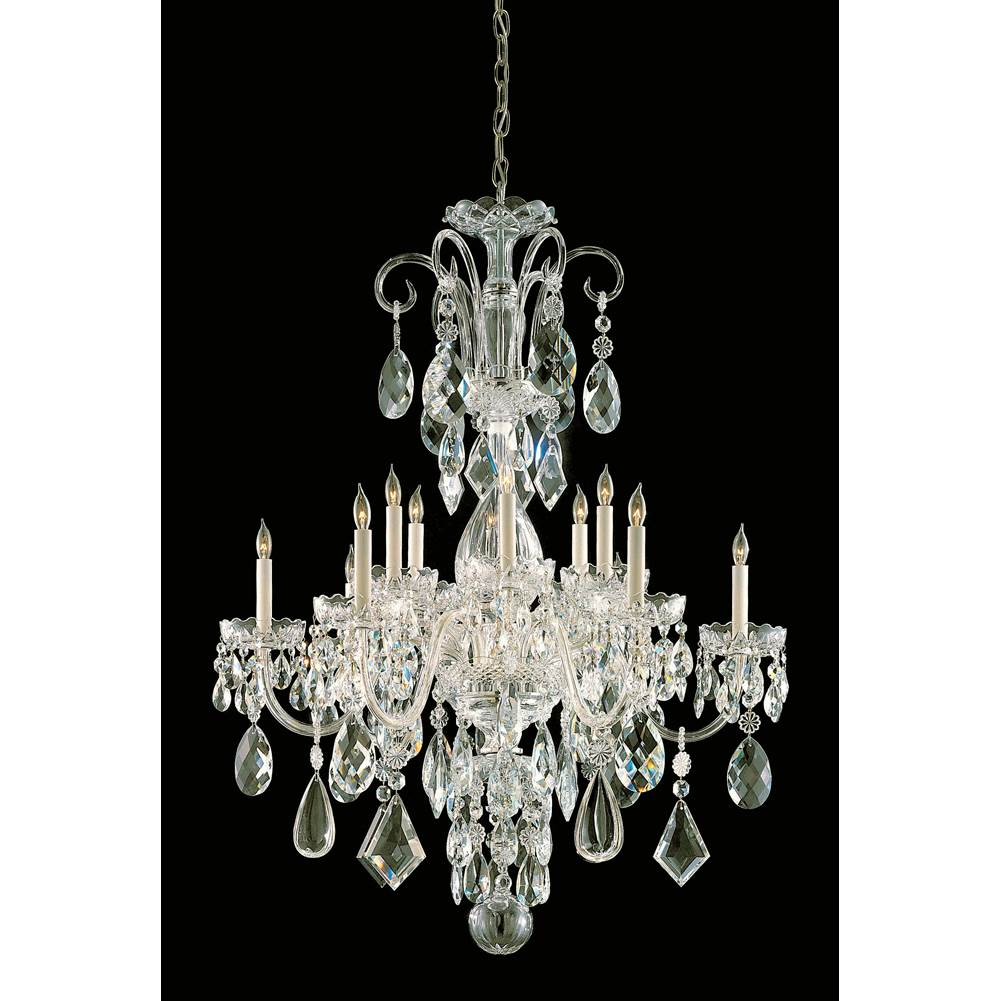 Crystorama Multi Tier Chandeliers item 1045-PB-CL-MWP