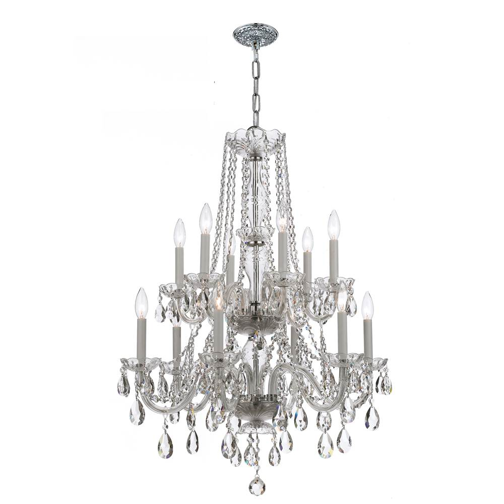 Crystorama Multi Tier Chandeliers item 1137-CH-CL-S