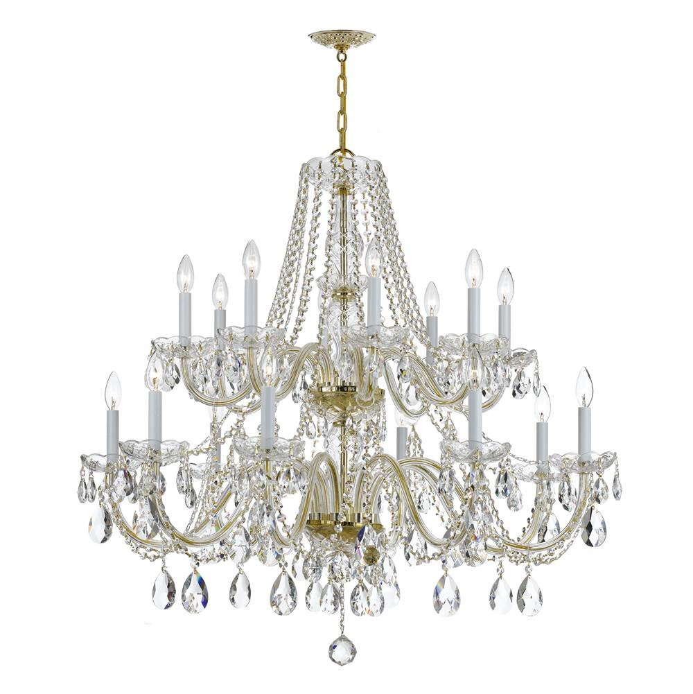 Crystorama Multi Tier Chandeliers item 1139-PB-CL-SAQ
