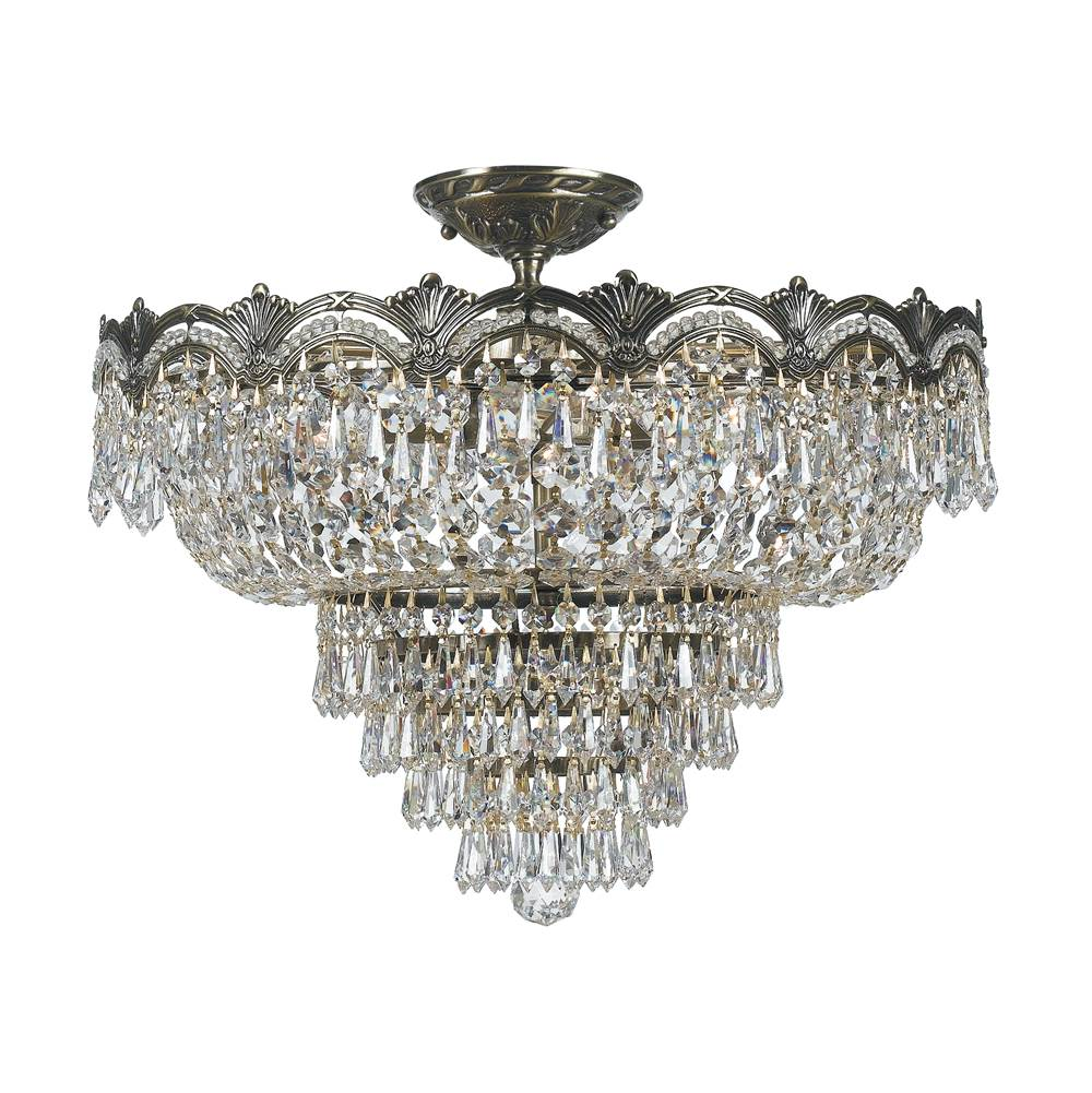 Crystorama Semi Flush Ceiling Lights item 1485-HB-CL-MWP