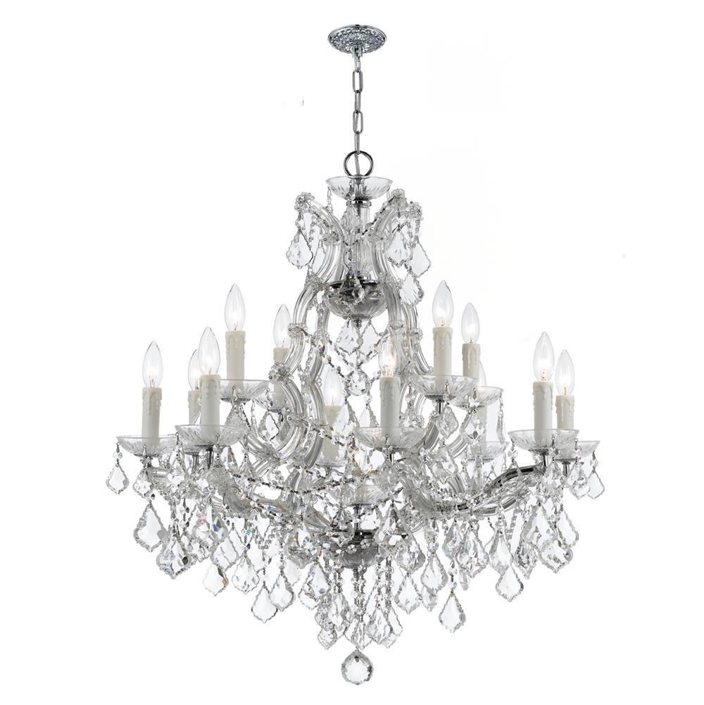 Crystorama Multi Tier Chandeliers item 4412-CH-CL-SAQ