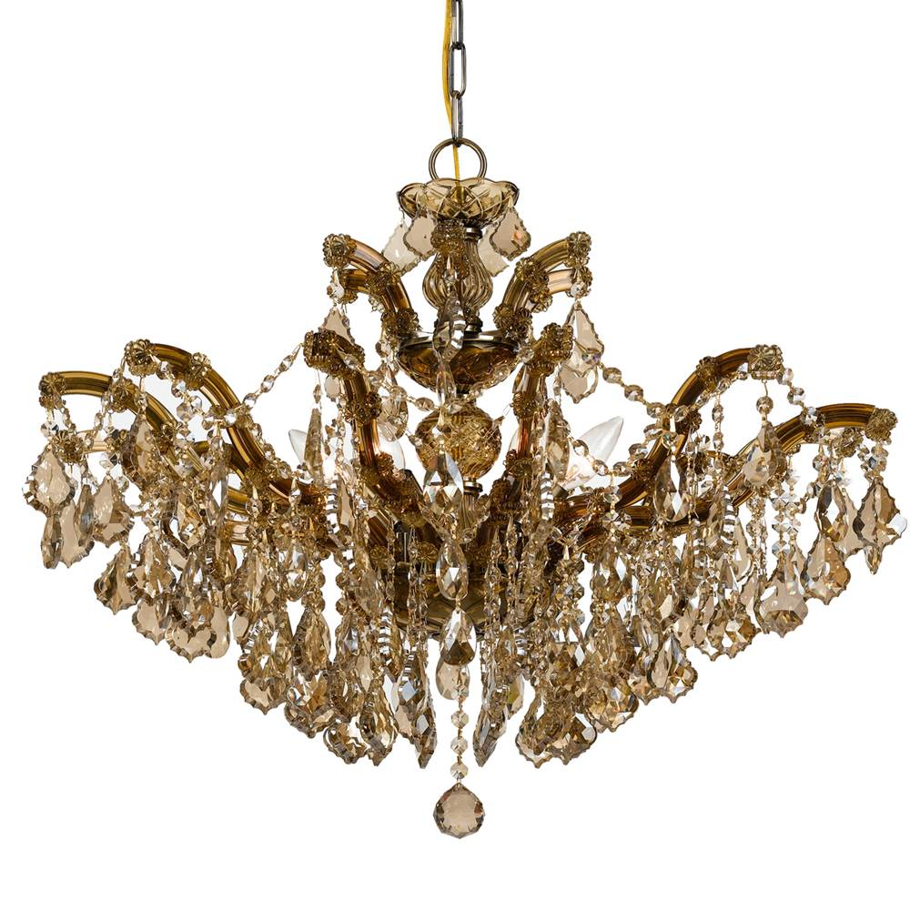 Crystorama Single Tier Chandeliers item 4439-AB-GT-MWP