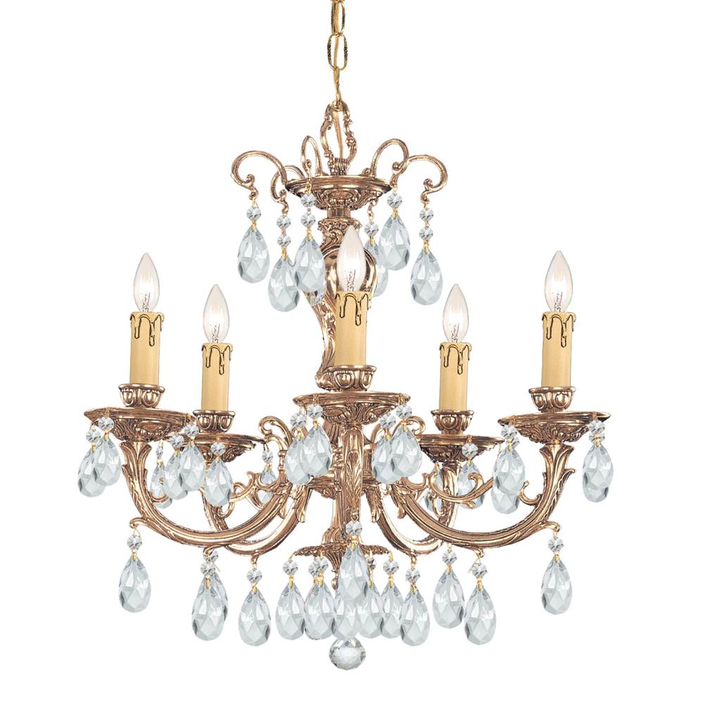 Crystorama Single Tier Chandeliers item 495-OB-CL-SAQ
