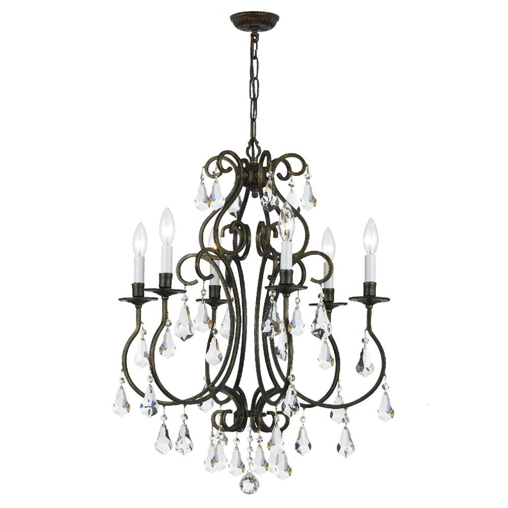 Crystorama Single Tier Chandeliers item 5016-EB-CL-MWP
