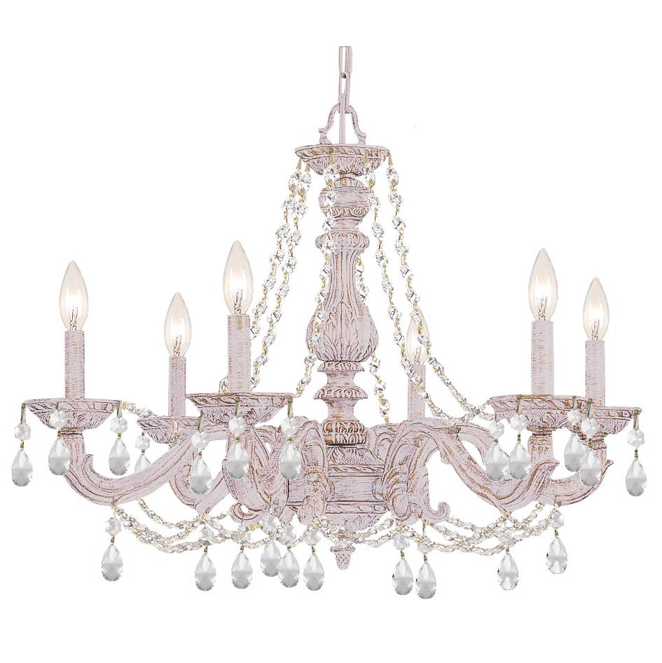 Crystorama Single Tier Chandeliers item 5026-AW-CL-SAQ