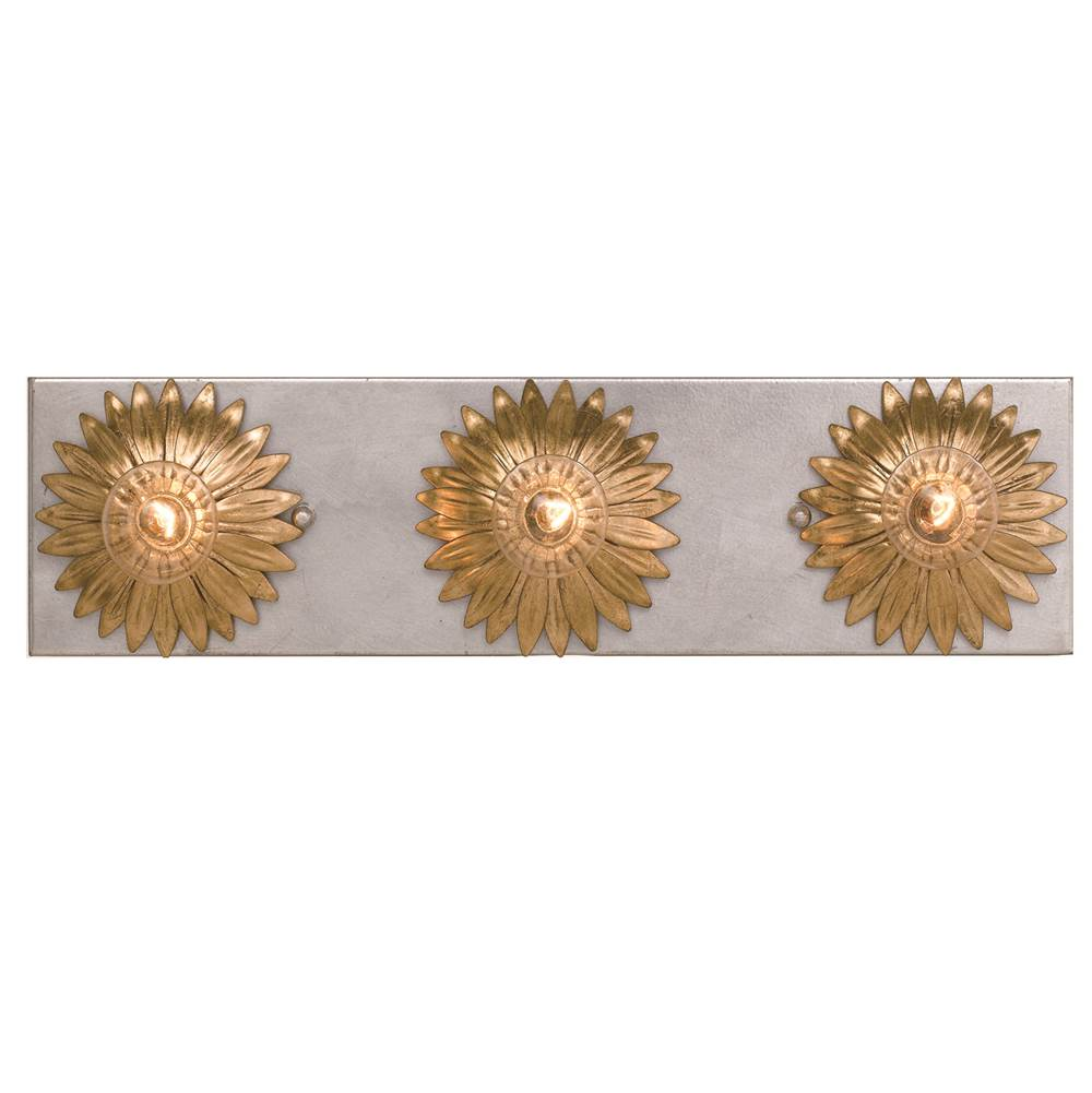 Crystorama Three Light Vanity Bathroom Lights item 503-GA-SA