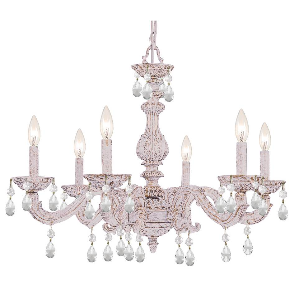 Crystorama Single Tier Chandeliers item 5036-AW-CL-S