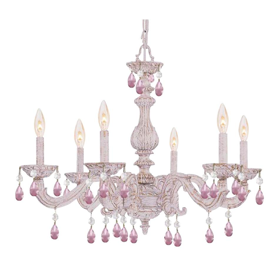 Crystorama Single Tier Chandeliers item 5036-AW-RO-MWP
