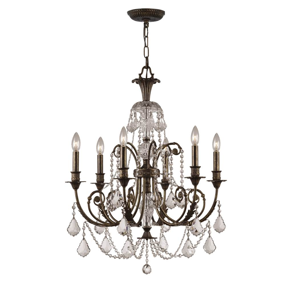 Crystorama Single Tier Chandeliers item 5116-EB-CL-S