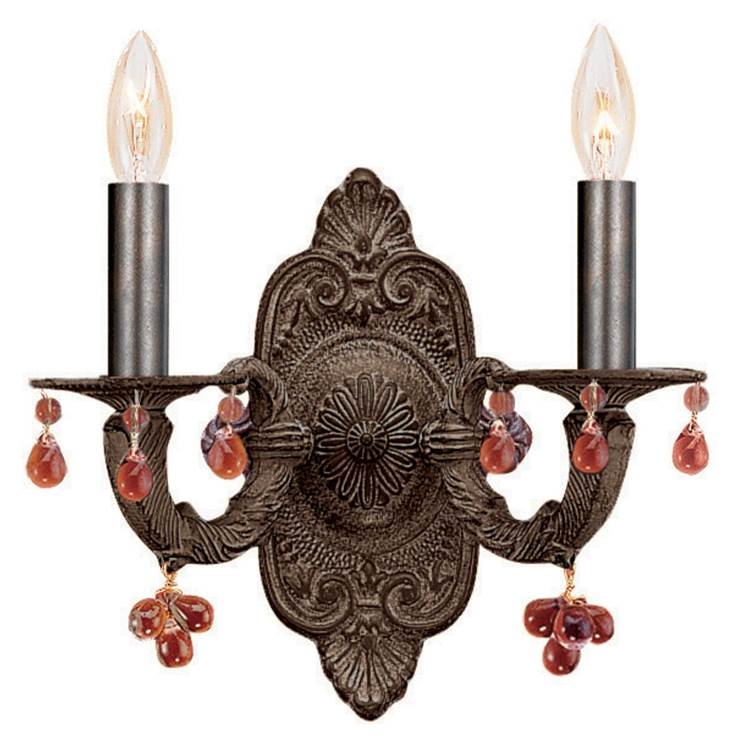 Crystorama Sconce Wall Lights item 5200-VB-AMBER