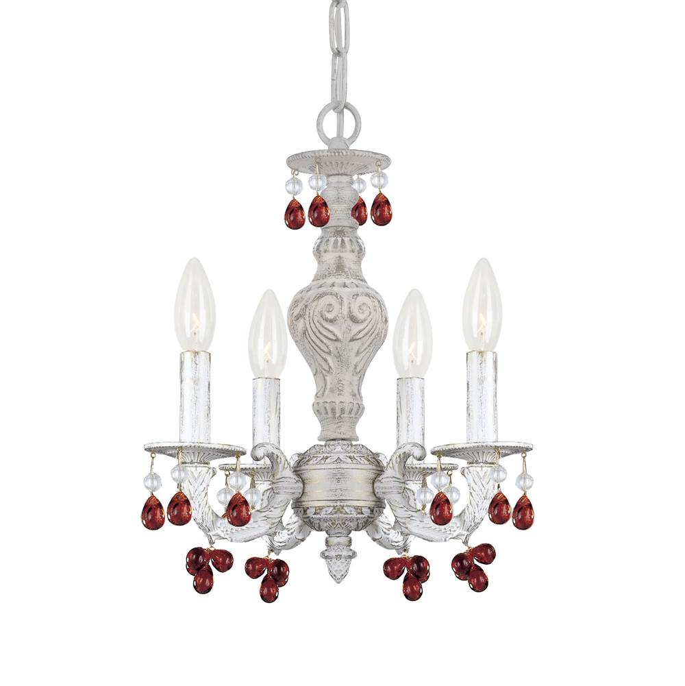 Crystorama Mini Chandeliers Chandeliers item 5224-AW-AMBER