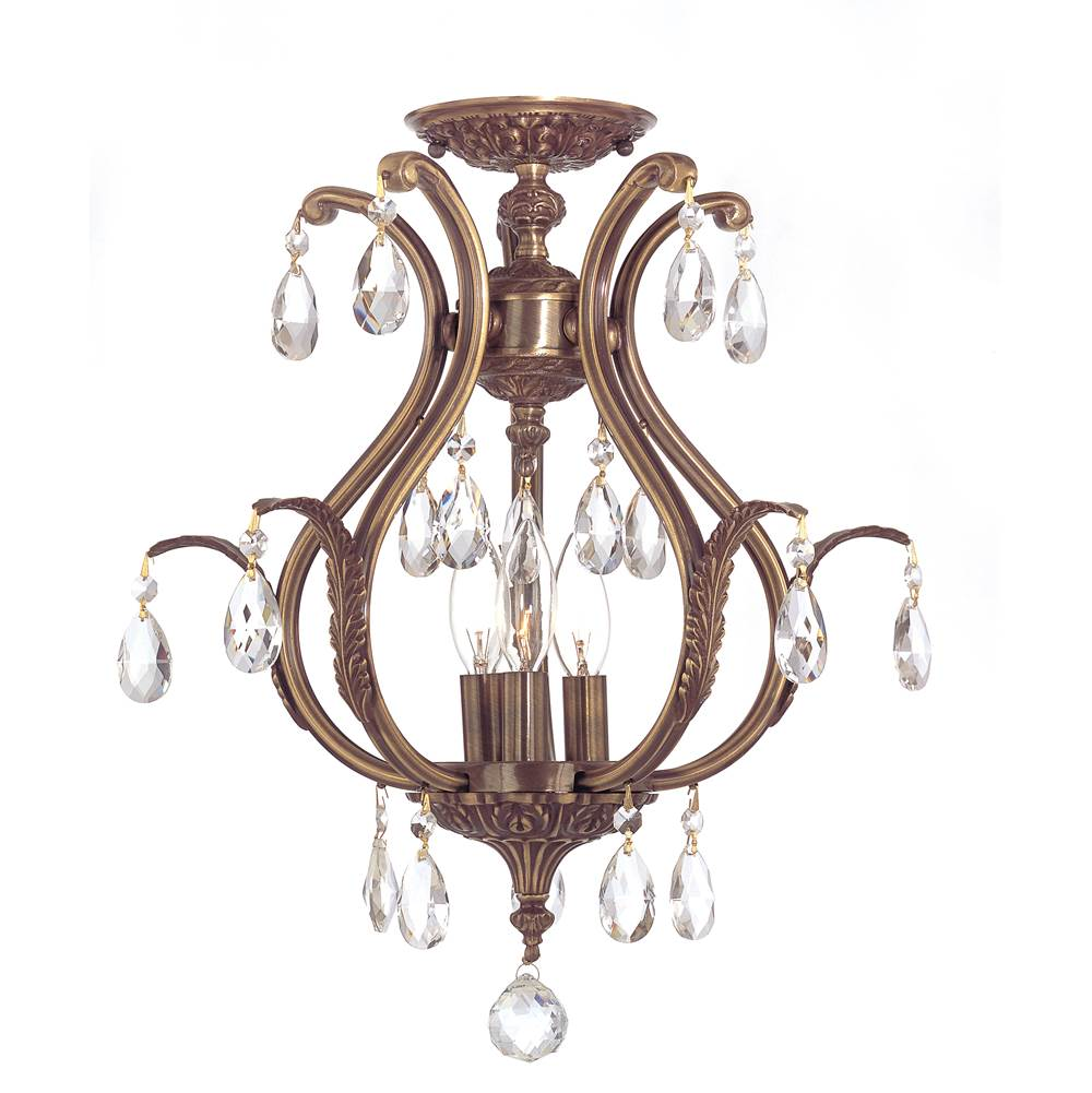 Crystorama Semi Flush Ceiling Lights item 5560-AB-CL-S_CEILING