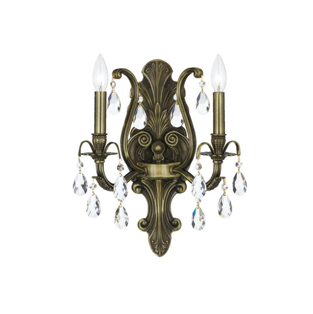 Crystorama Sconce Wall Lights item 5563-AB-CL-SAQ