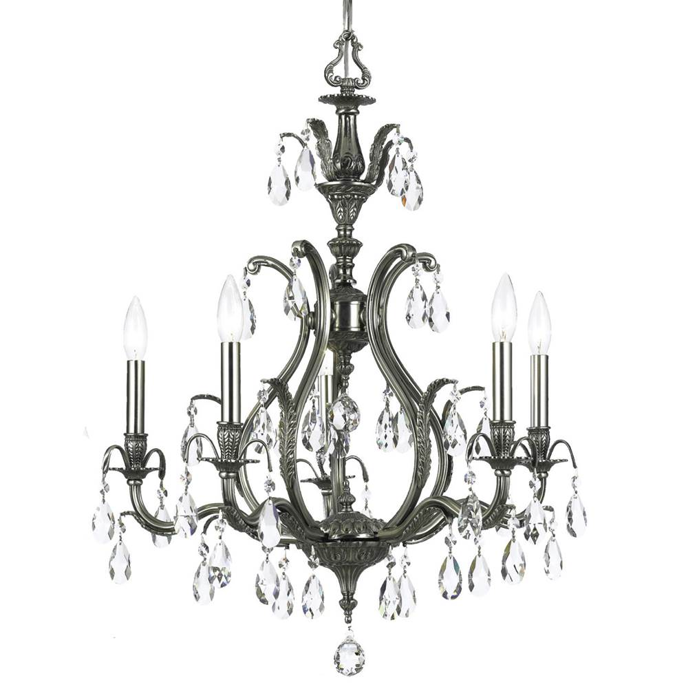 Crystorama Single Tier Chandeliers item 5565-PW-CL-MWP