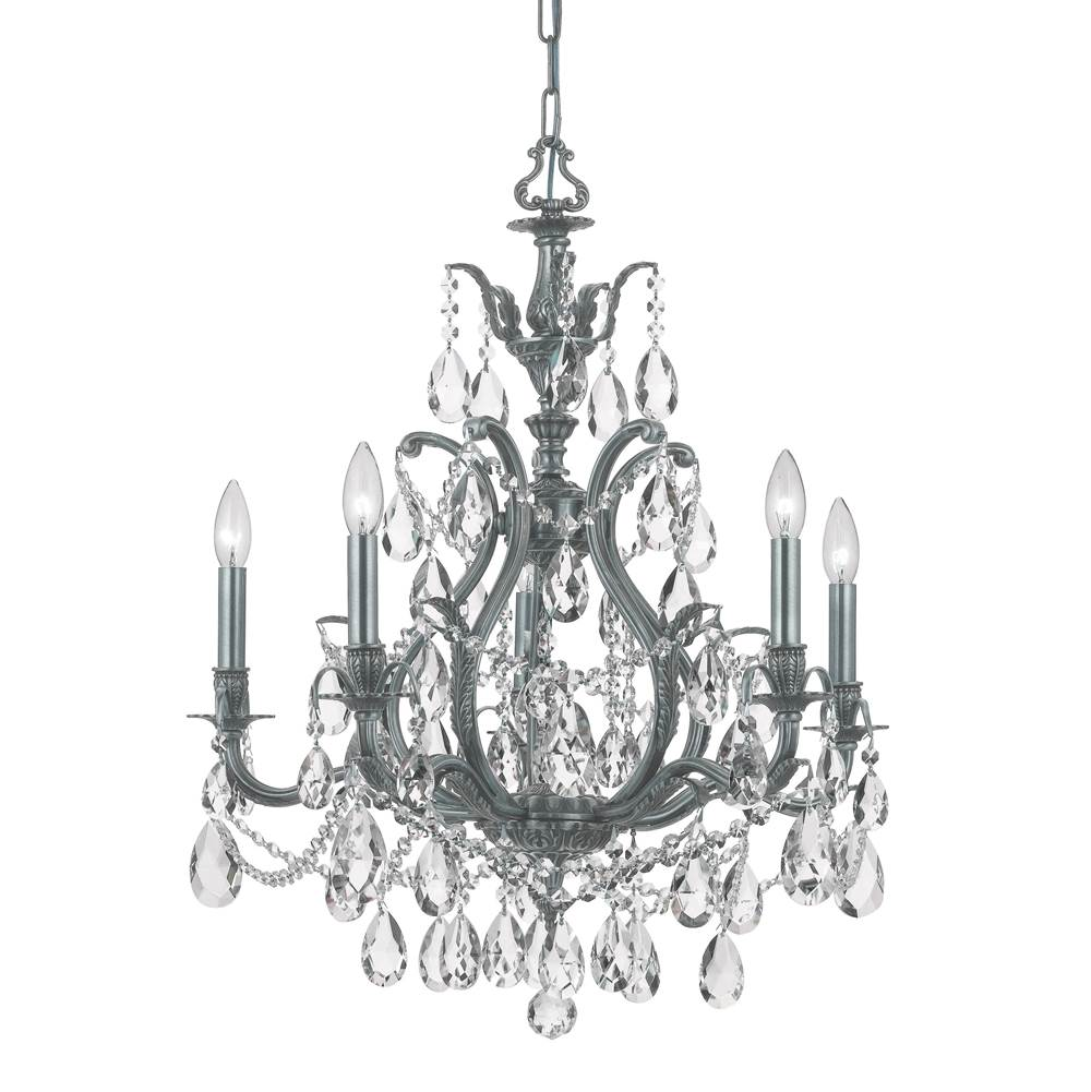 Crystorama Single Tier Chandeliers item 5575-PW-CL-S
