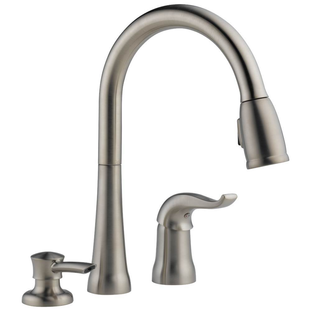 Delta Faucet Kitchen Faucets Kate Kitchens And Baths By Briggs Grand Island Lenexa Lincoln Omaha Sioux City