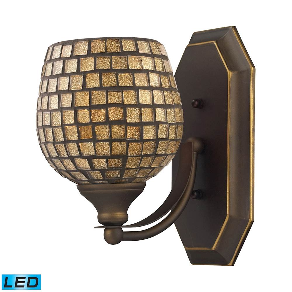 Elk Lighting One Light Vanity Bathroom Lights item 570-1B-GLD-LED